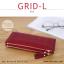 กระเป๋าสตางค์ผู้หญิง รุ่น GRID-L สีเทาอ่อน ใบยาว สองซิป thumbnail 5