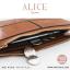 กระเป๋าสตางค์ผู้หญิง ทรงถุง กระเป๋าคลัทช์ สีเขียว รุ่น ALICE thumbnail 18