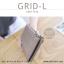 กระเป๋าสตางค์ผู้หญิง รุ่น GRID-L สีเทาอ่อน ใบยาว สองซิป thumbnail 2