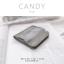กระเป๋าสตางค์ผู้หญิง ใบสั้น รุ่น CANDY สีเทา thumbnail 2