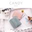 กระเป๋าสตางค์ผู้หญิง ใบสั้น รุ่น CANDY สีเทา thumbnail 7
