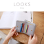 กระเป๋าสตางค์ผู้หญิง ใบสั้น รุ่น LOOKS สีดำ thumbnail 14