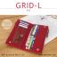 กระเป๋าสตางค์ผู้หญิง รุ่น GRID-L สีเทาอ่อน ใบยาว สองซิป thumbnail 7