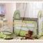 TB21012 เตียงนอนเด็ก (สไตล์ยุโรป) สีเขียว thumbnail 3