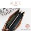 กระเป๋าสตางค์ผู้หญิง ทรงถุง กระเป๋าคลัทช์ สีเขียว รุ่น ALICE thumbnail 19