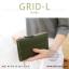 กระเป๋าสตางค์ผู้หญิง รุ่น GRID-L สีเทาอ่อน ใบยาว สองซิป thumbnail 19
