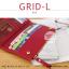 กระเป๋าสตางค์ผู้หญิง รุ่น GRID-L สีเทาอ่อน ใบยาว สองซิป thumbnail 8