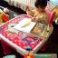 E10903 ชุดโต๊ะเรียนเขียนหนังสือสำหรับเด็กแบบน็อกดาวน์ ลายการ์ตูนแมวชมพู thumbnail 2