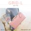 กระเป๋าสตางค์ผู้หญิง รุ่น GRID-L สีเทาอ่อน ใบยาว สองซิป thumbnail 9