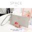 กระเป๋าสตางค์ผู้หญิง ทรงถุง รุ่น SPACE สีฟ้า thumbnail 20