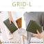 กระเป๋าสตางค์ผู้หญิง รุ่น GRID-L สีเทาอ่อน ใบยาว สองซิป thumbnail 21
