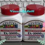 21st Century Health Care D-1000 D3 Extra Strength 110 Tablets
