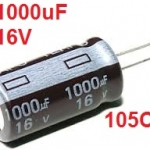 1000uF 16V 105C