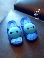 รองเท้าแตะเด็กการ์ตูนสีน้ำเงิน ใส่ได้ทั้งเด็กหญิงและชาย แนวลำลอง