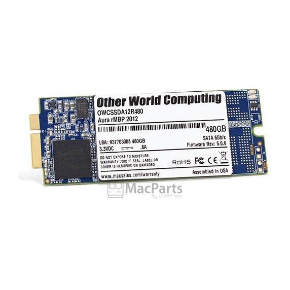 OWC Flash Storage 480Gb For MacBook Pro Retina 2012-Early 2013