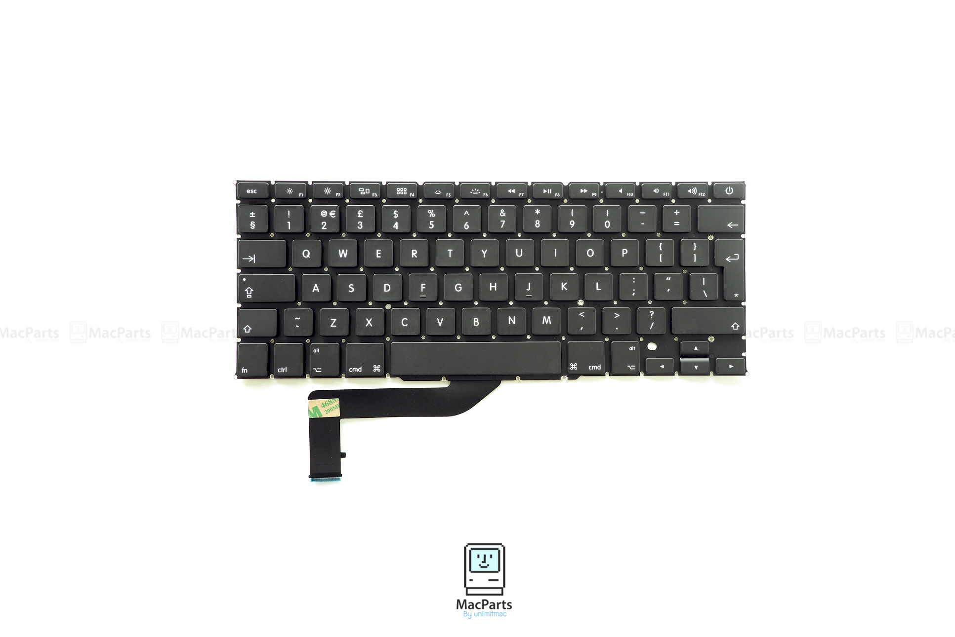 "UK Keyboard MacBook Pro Retina 15"" Mid 2012 , Early 2013 , Late 2013 , Mid 2014 (A1398)"