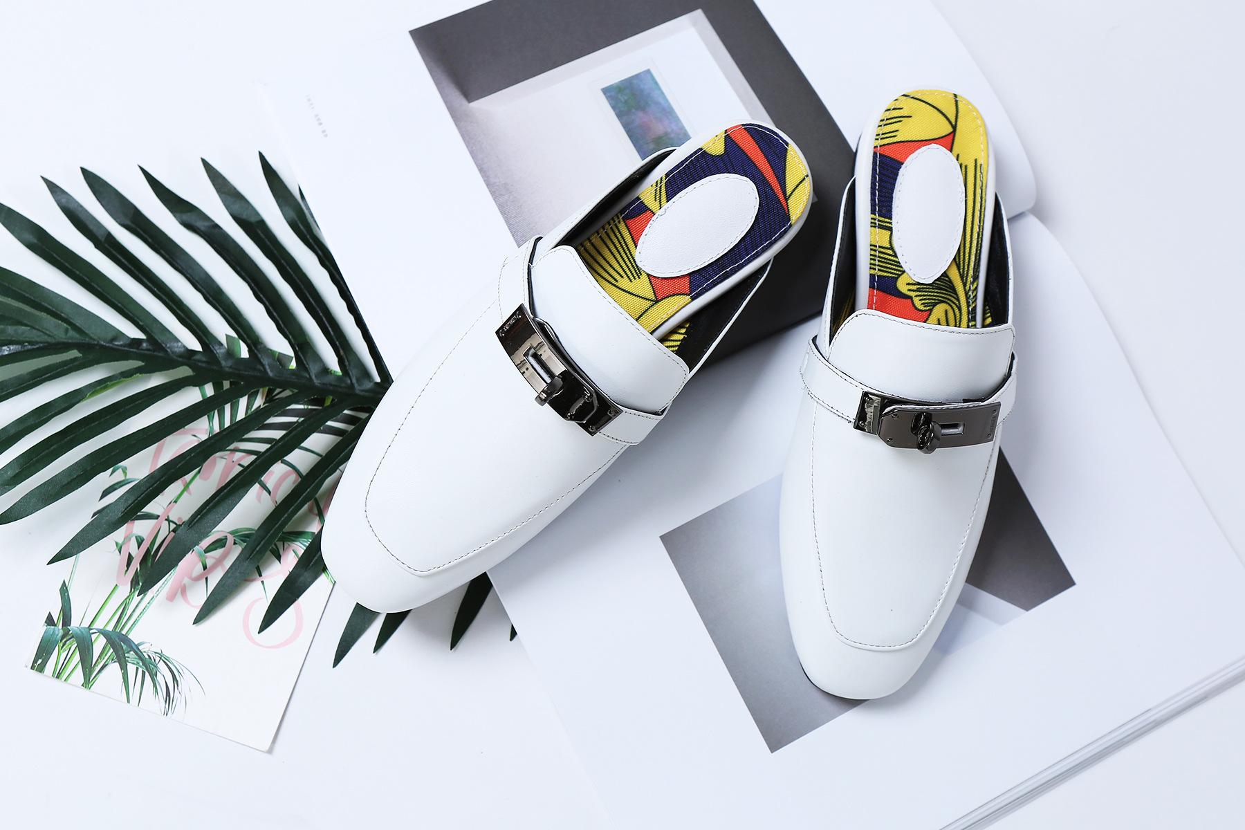 รองเท้าหนังแกะ Kelly style White