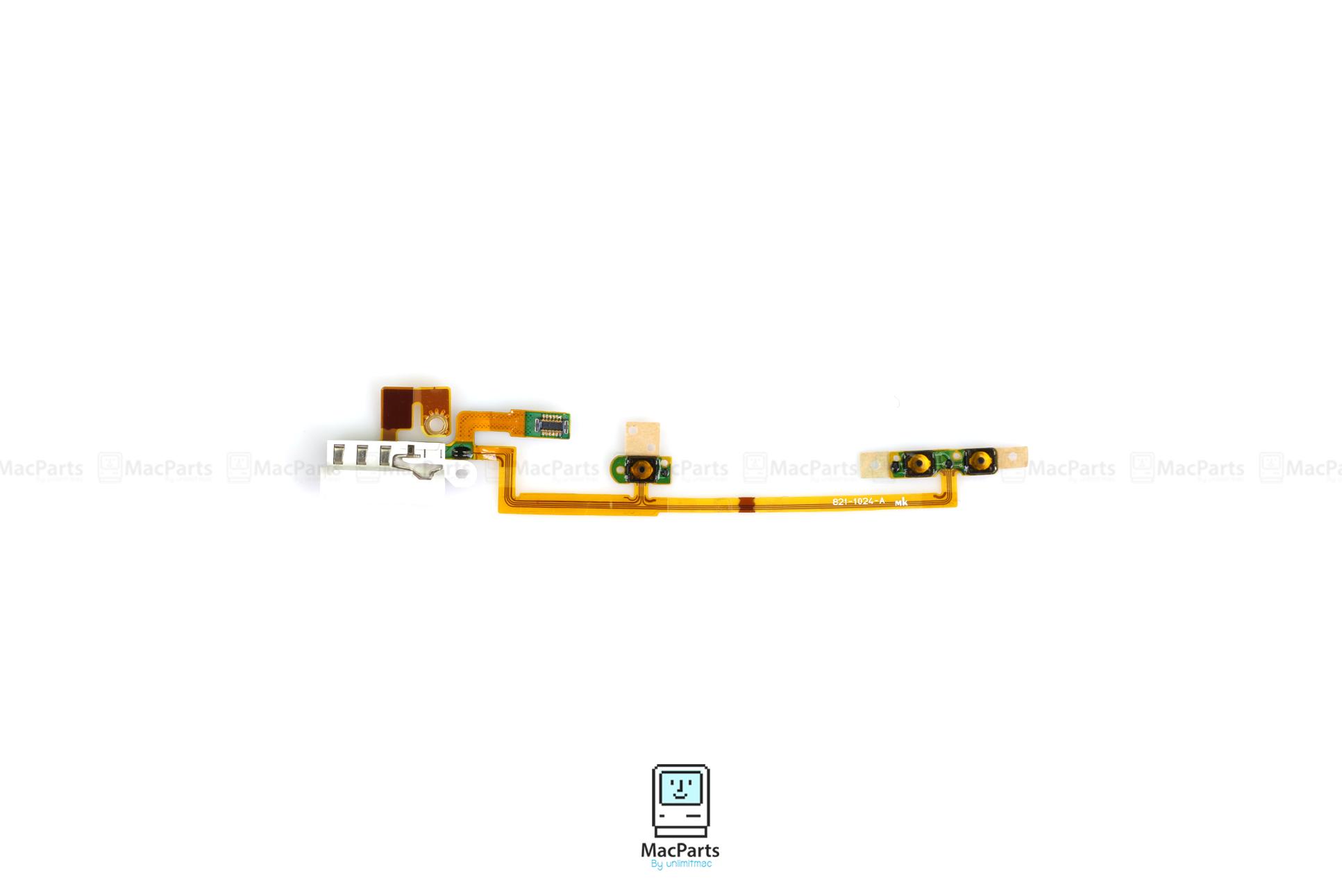 821-1024-A Headphone Jack Power Volume Flex Cable for iPod Nano 6