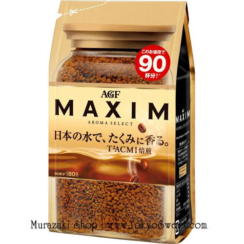 พร้อมส่ง ** MAXIM Aroma Select กาแฟสำเร็จรูป กาแฟแม็กซิม บรรจุ 180 กรัม (ชงได้ประมาณ 90 แก้ว)