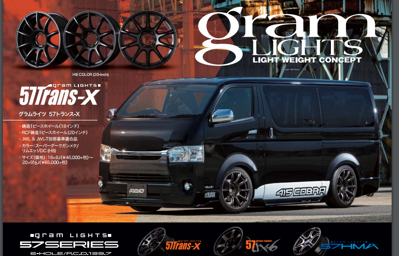 Rayswheel Gramlight Light Weight Concept 57Tran X By Nsports