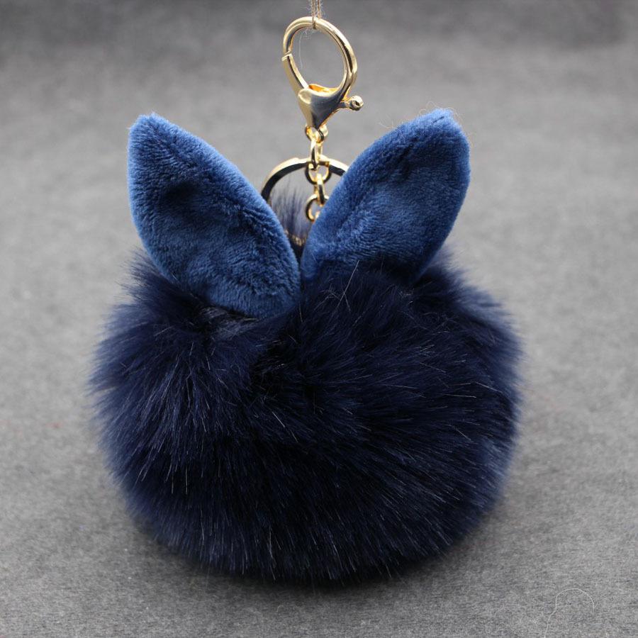 พวงกุญแจ ฟูฟู (Dark blue)
