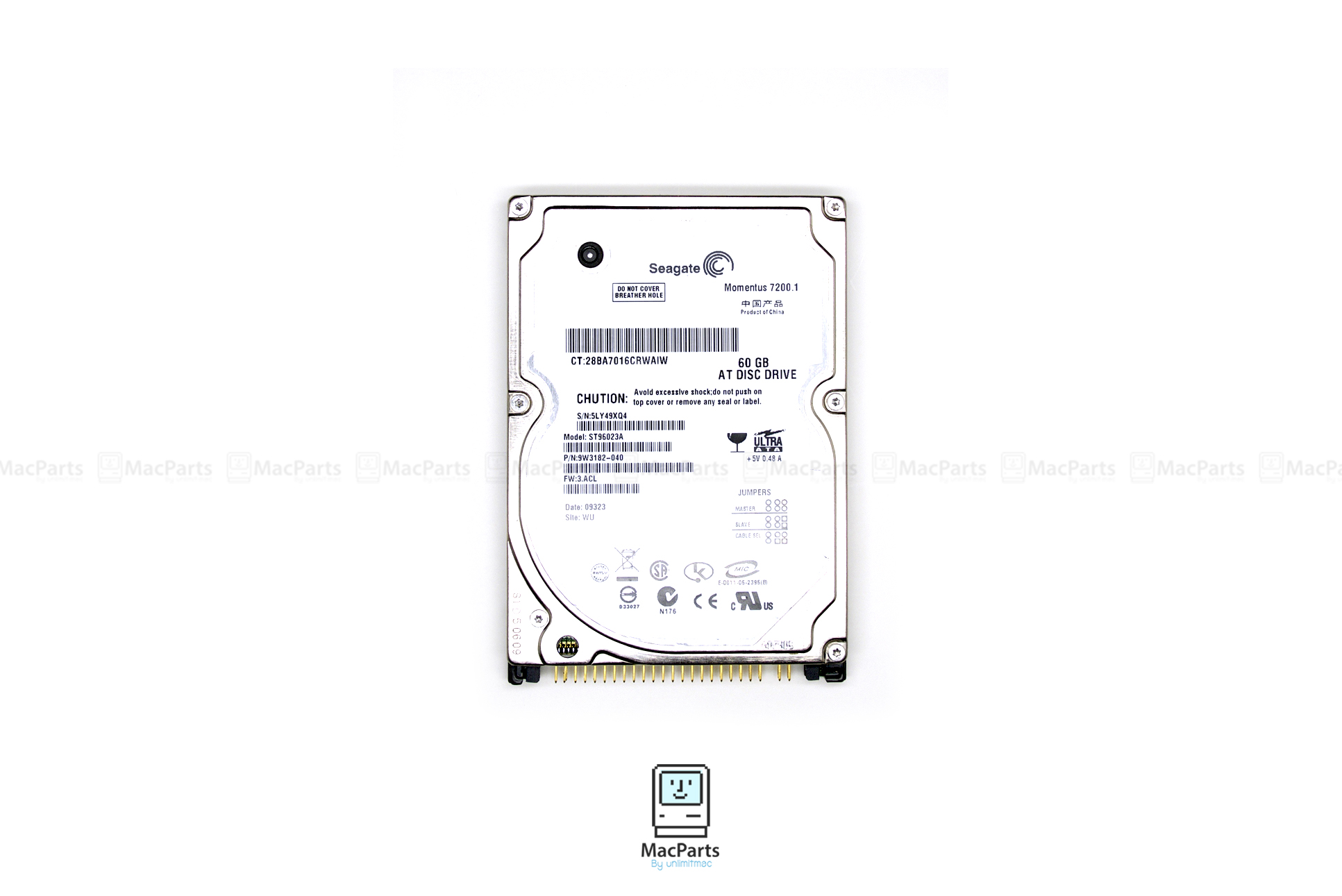 """Harddisk IDE 2.5"""" 60GB 7200 Rpm"""
