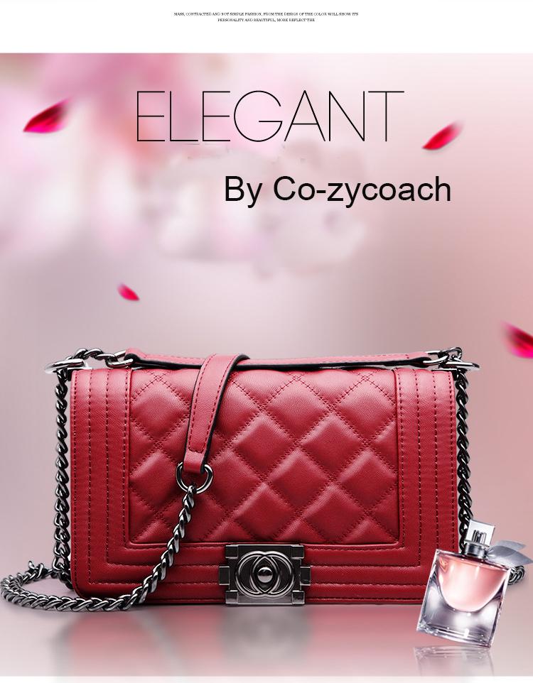 กระเป๋าหนัง แกะแท้ ELEGANG (RED)
