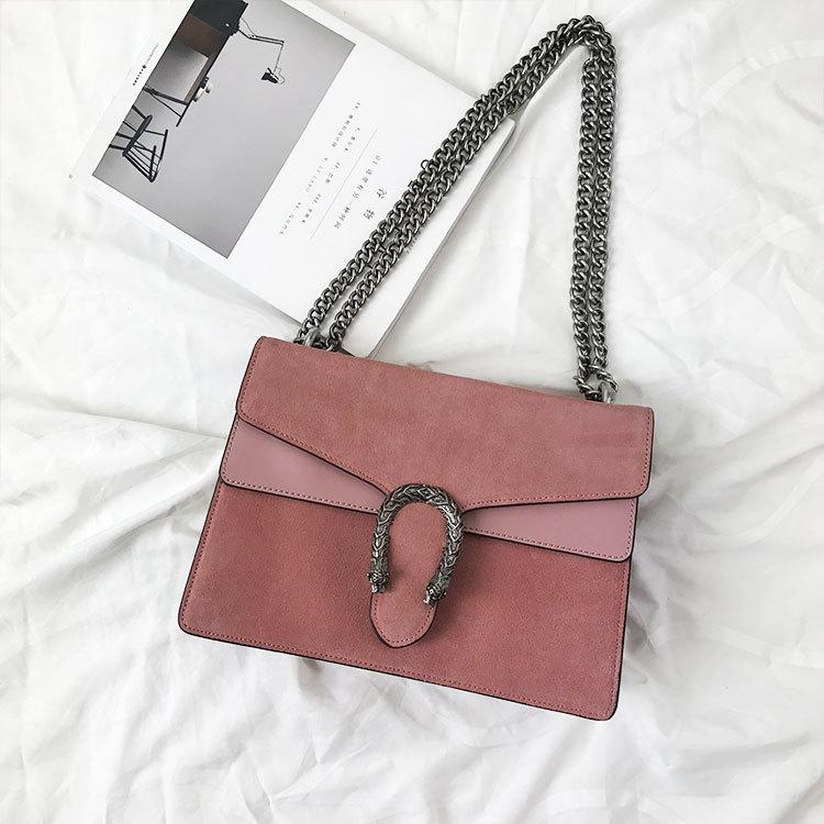 กระเป๋าหนัง Gucci (Baby Pink) size 8.5นิ้ว