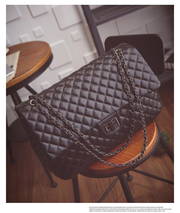 กระเป๋าหนังPU รุ่น Big Chanel 17 นิ้ว