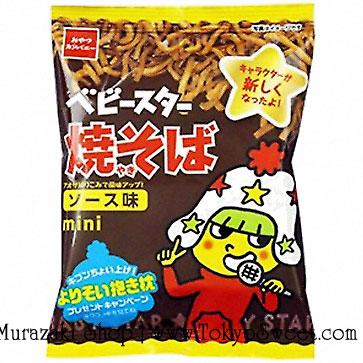 พร้อมส่ง ** Baby Star Ramen mini Yakisoba Sauce มาม่าเส้นมินิ รสซอสยากิโซบะ กรุบกรอบ เคี้ยวเพลิน 1 ถุงบรรจุ 21 กรัม