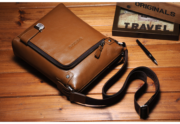 กระเป๋าหนังแท้ Teemzone Brown สำหรับคุณผู้ชาย