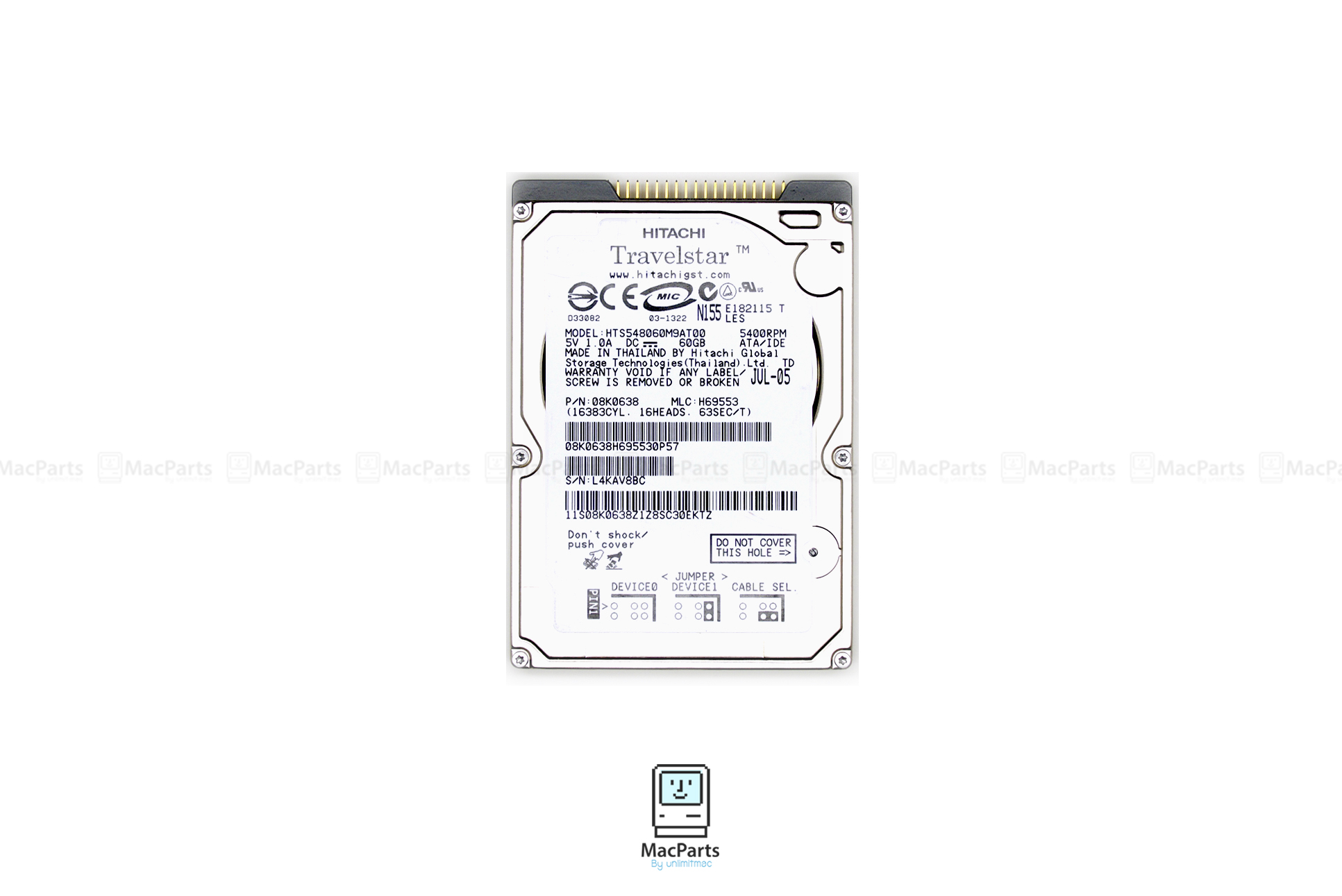 "Harddisk IDE 2.5"" 60GB 5400 Rpm"