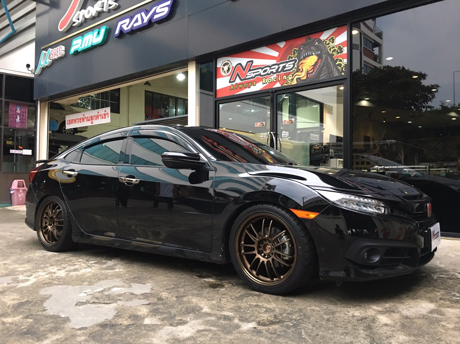 Civic FC + Rays RE30 18*8.5+40 5-114.3