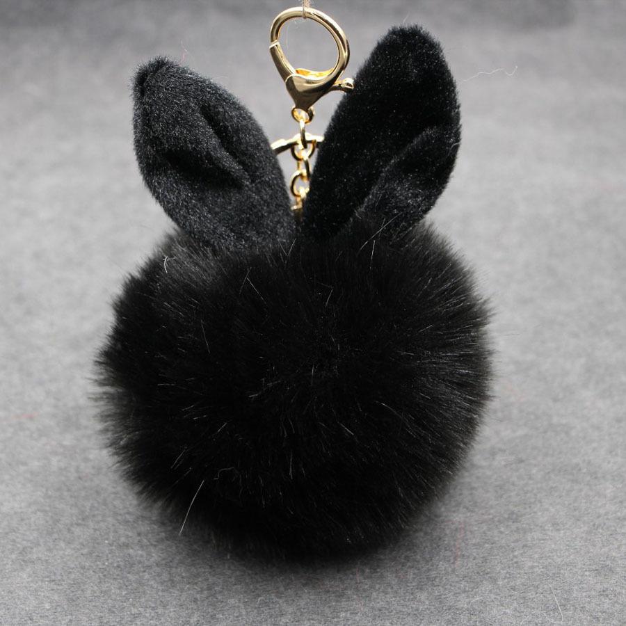 พวงกุญแจ ฟูฟู (black)