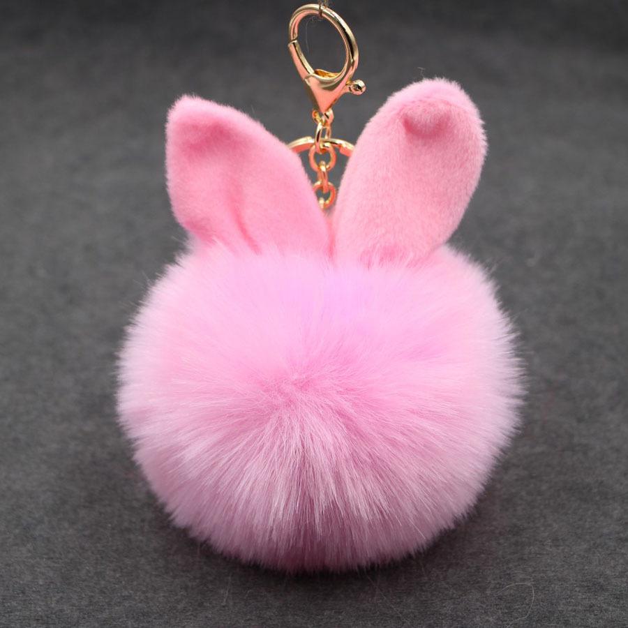 พวงกุญแจ ฟูฟู (baby pink)