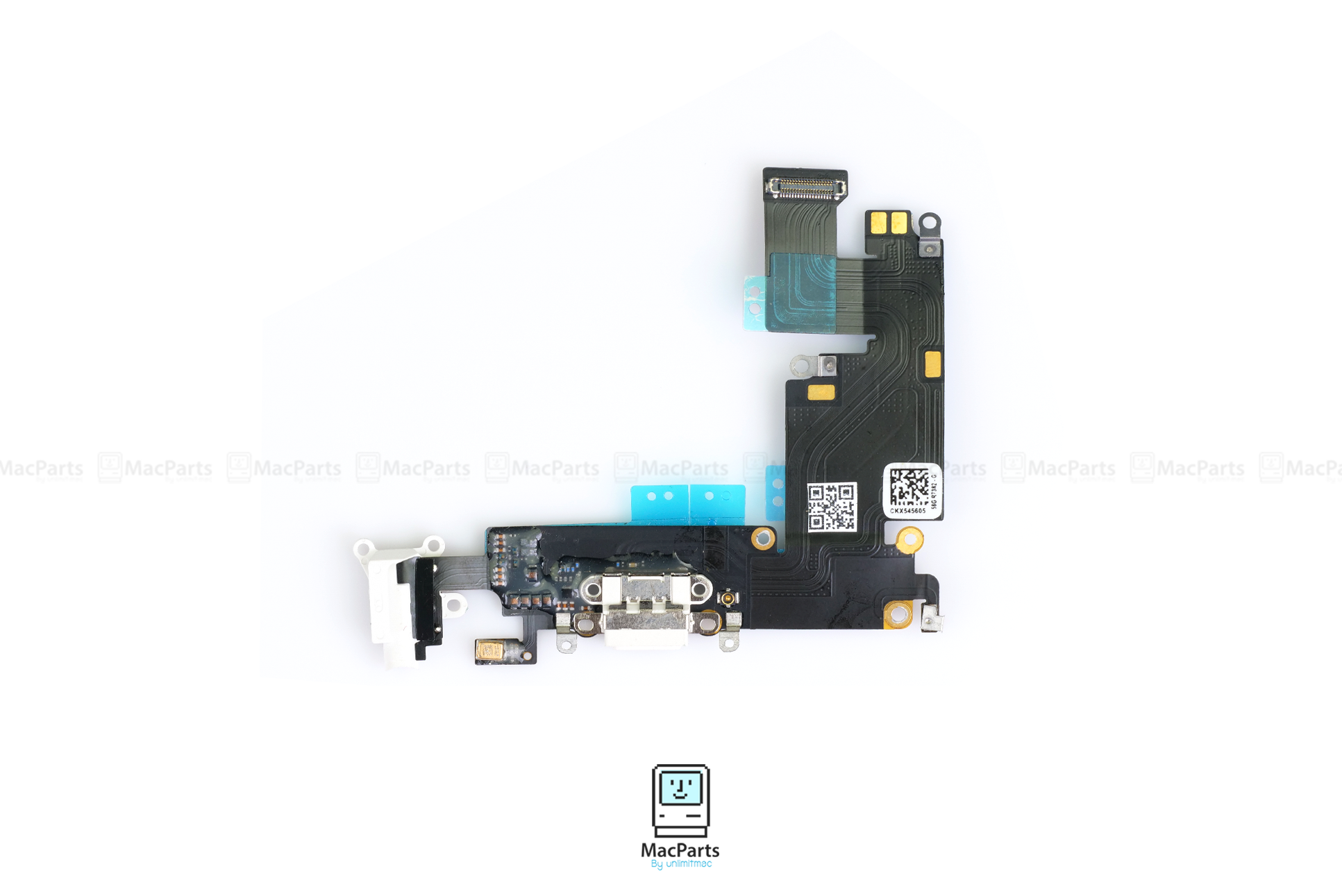 IP-821-2220-A W iPhone 6 Plus Lightning Connector and Headphone Jack White