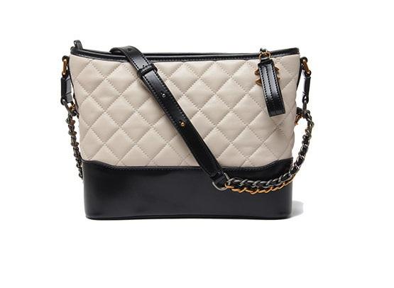 กระเป๋าหนังแกะ gabrielle bag size 28 (สีเบจ)