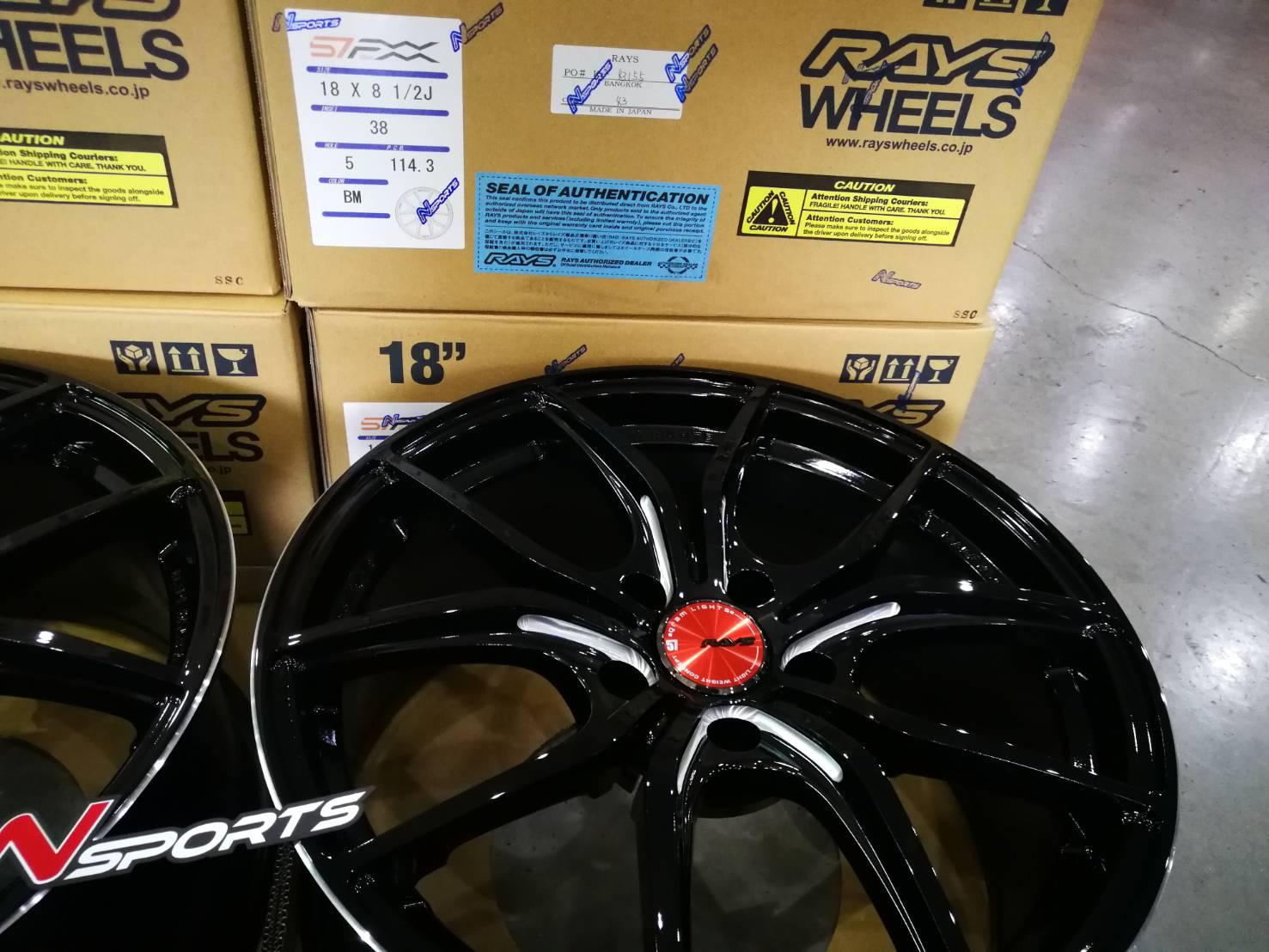 Rayswheel 57FXX 18x8.5+38, 5-114.3