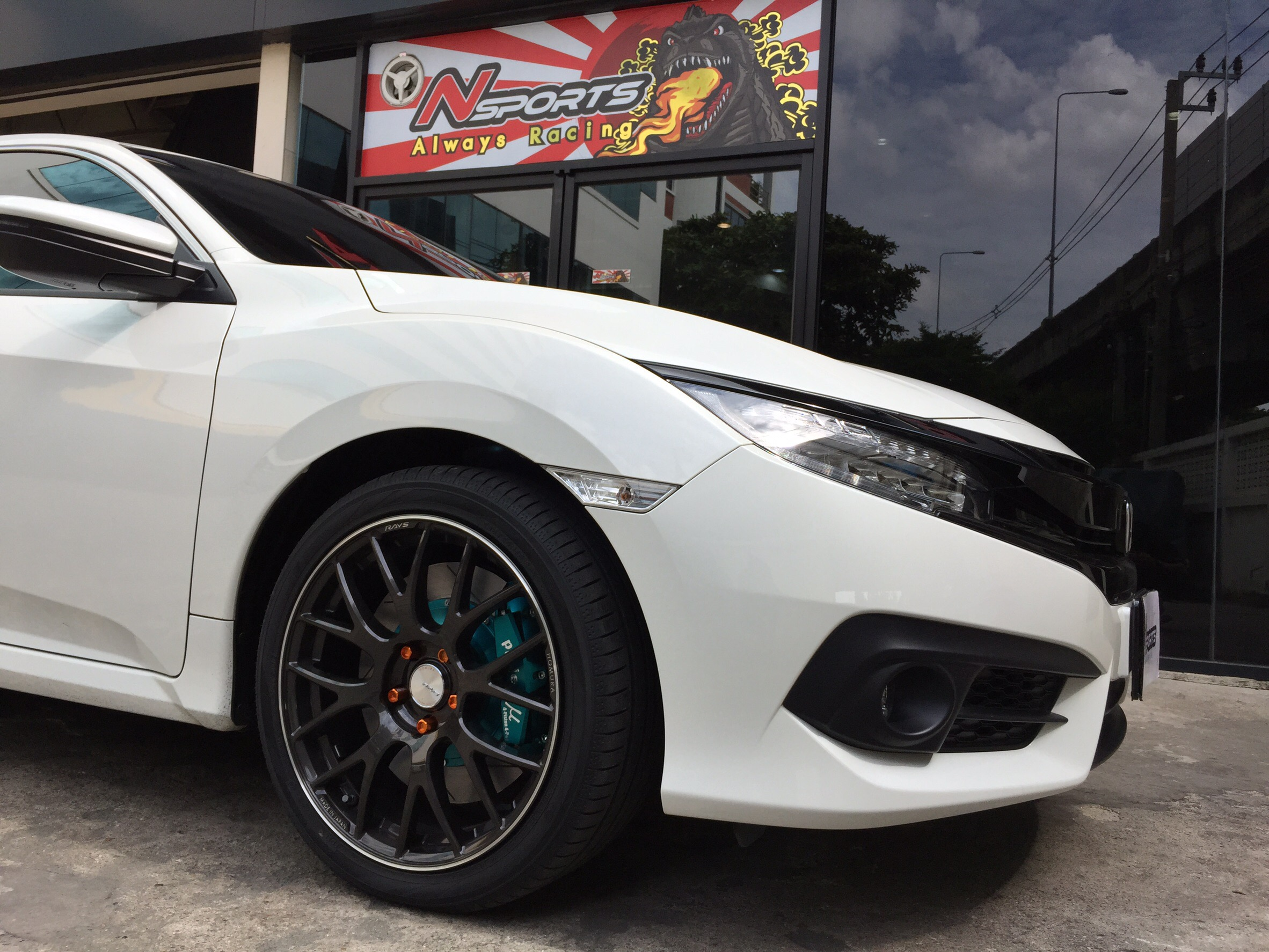 Honda Civic FC + Rays Homura +project Mu