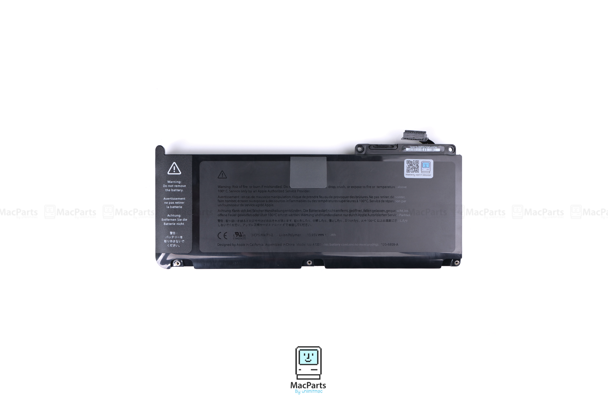 661-5391 Rechargeable Battery For MacBook White unibody A1331