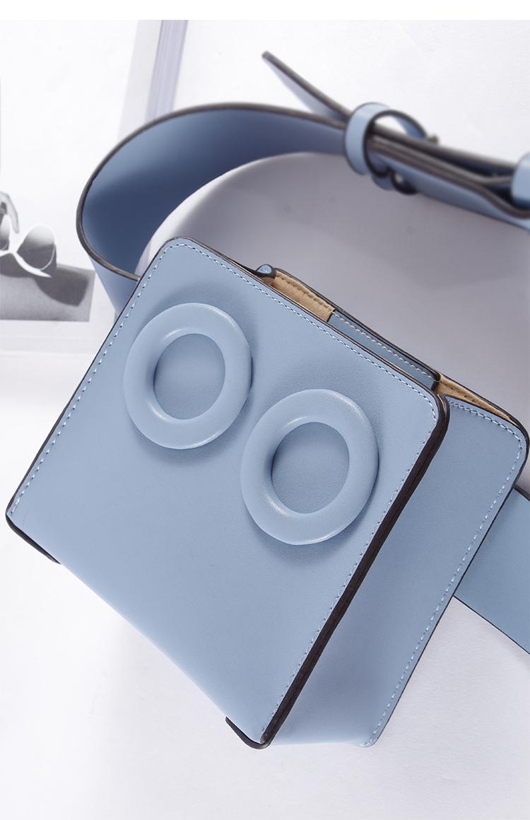 กระเป๋าหนัง PU Premium รุ่น Deon belt Blue