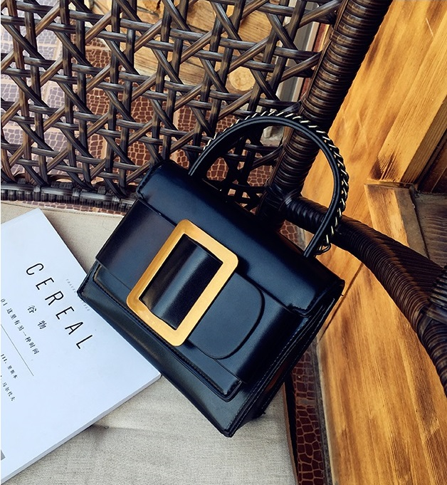 กระเป๋าหนังพรีเมี่ยม PU ทรง boyy bags (Black)