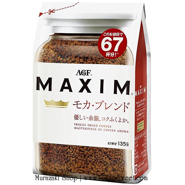 MAXIM Mocha Blend กาแฟสำเร็จรูป ม็อคค่า กาแฟแม็กซิม บรรจุ 135 กรัม (ชงได้ประมาณ 67 แก้ว)