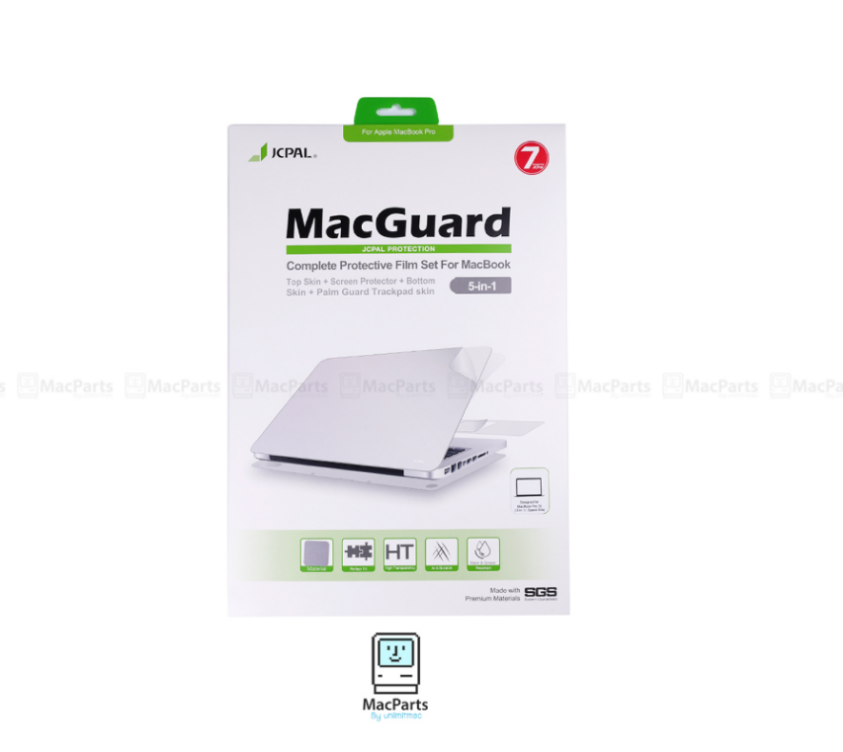 "JCPAL MacGuard 5 in 1 Set - Macbook Air 11"" (Top Skin+Screer Protector+Bottom Skin+Palm Guard Trackpad Skin)"