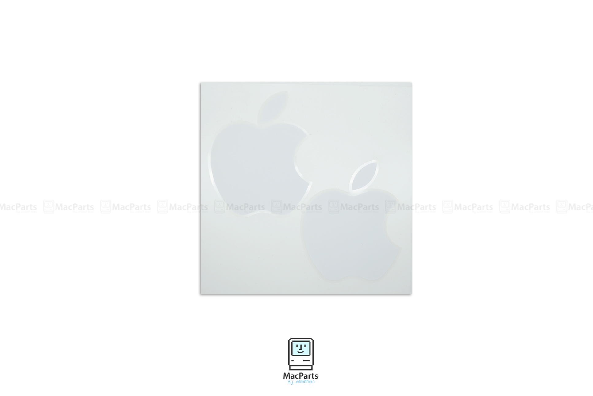 Apple Sticker White Original (x2) , สติ้กเกอร์ Apple สีขาว