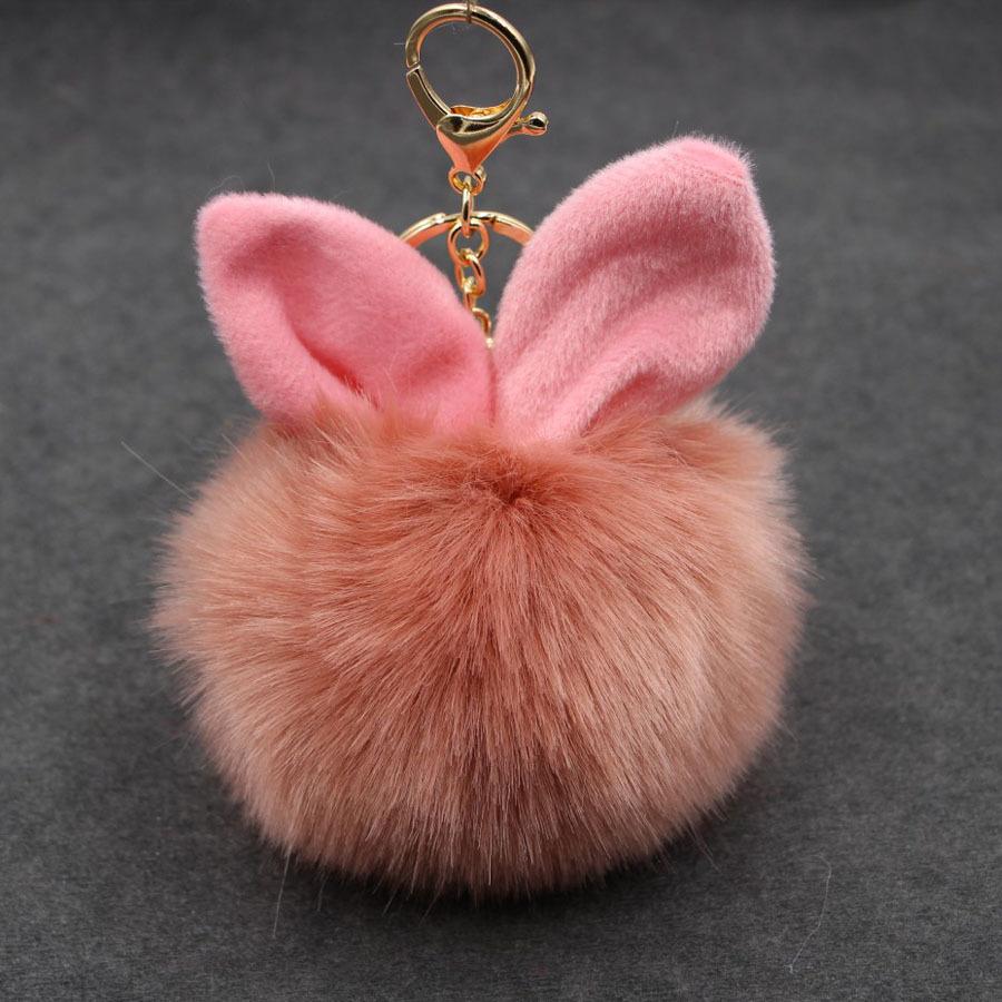 พวงกุญแจ ฟูฟู (pink brownie)