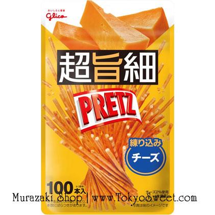พร้อมส่ง ** Pretz Extra Slim Cheese เพรทซ์แท่งผอมมาก แต่อร่อยเข้มข้น รสชีส 1 ห่อมี 100 แท่ง
