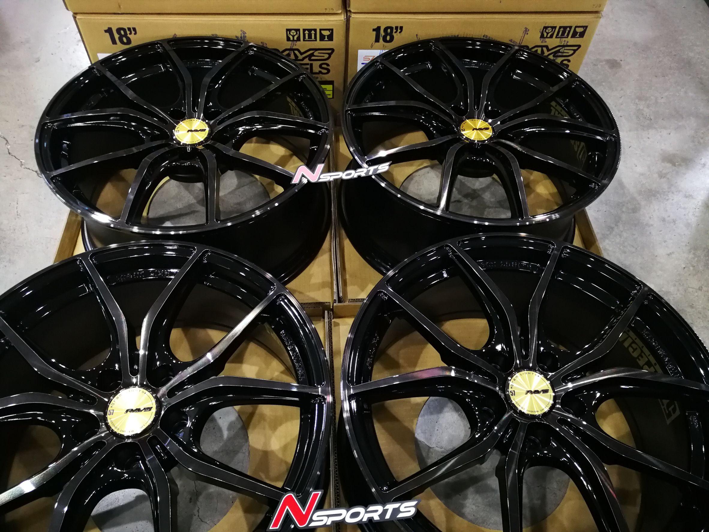 Rayswheel 57FXX CJ รุ่นใหม่ 18x8+38 5-114.3 สีดำ