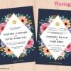 การ์ดแต่งงาน การ์ดเชิญงานแต่งงาน ลายดอกไม้สไตล์สีน้ำ D90096