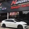 """Wedssports SA-15R 18"""" + Honda Civic FC"""